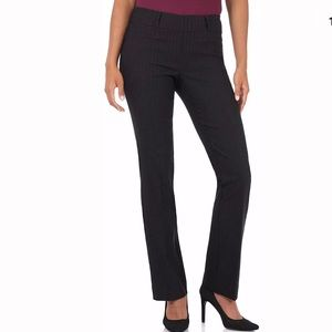 Rekucci 8 bootcut pants black stripe NWT